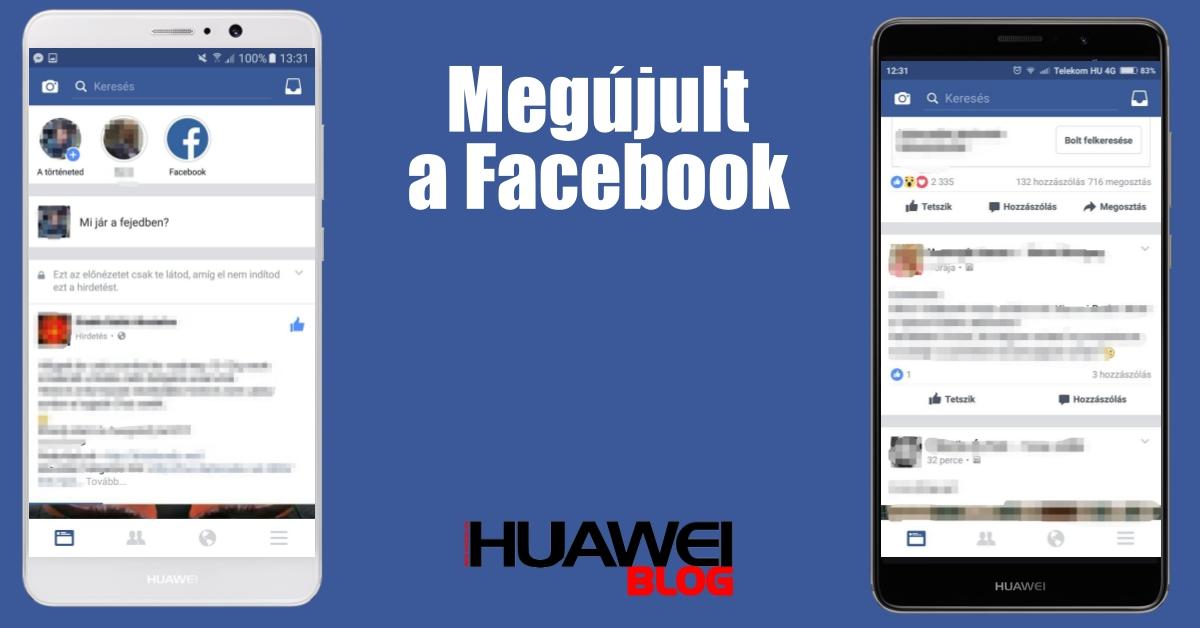 Új Facebook felület