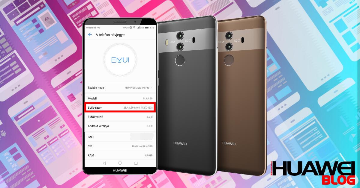 Az Oreo új Build számot hozott a Huawei modelleknek