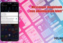 """A """"Messenger megjelenik más alkalmazások felett"""" értesítés"""
