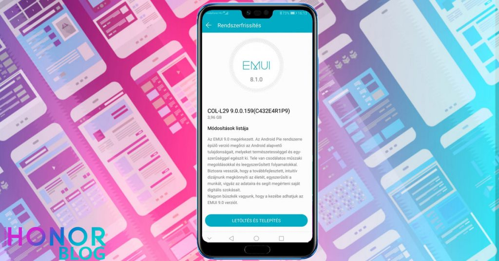 Elindult a Honor 10 Android 9 Pie és EMUI 9 frissítés