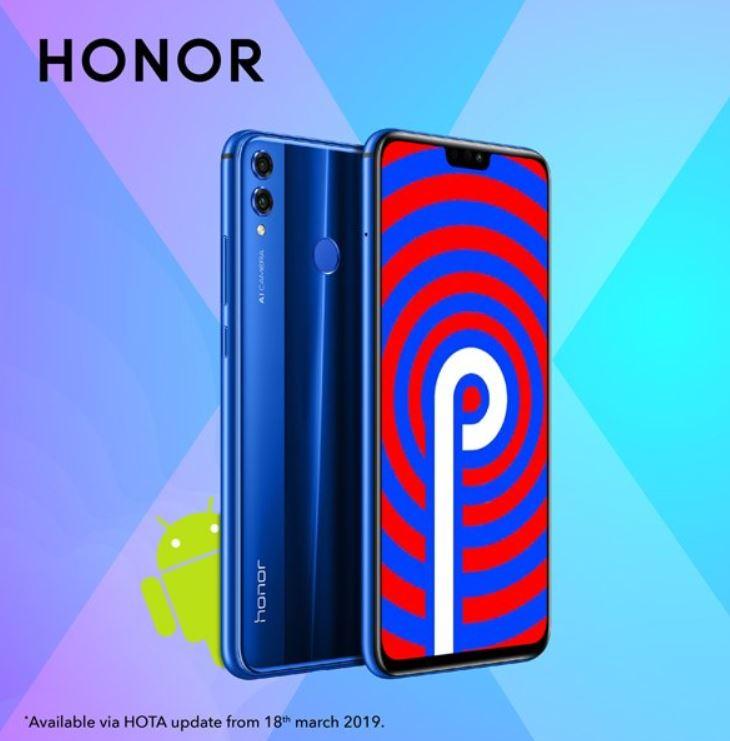 Android Pie-t és EMUI 9-et kapott a Honor 8X Indiában