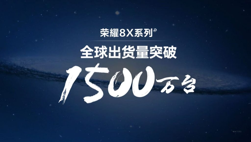 15 milliónál jár a Honor 8X