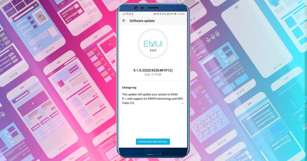 A Honor View10 is EMUI 9.1-re frissült