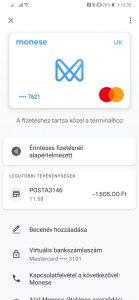 Monese mobilfizetés a Google Pay alkalmazással