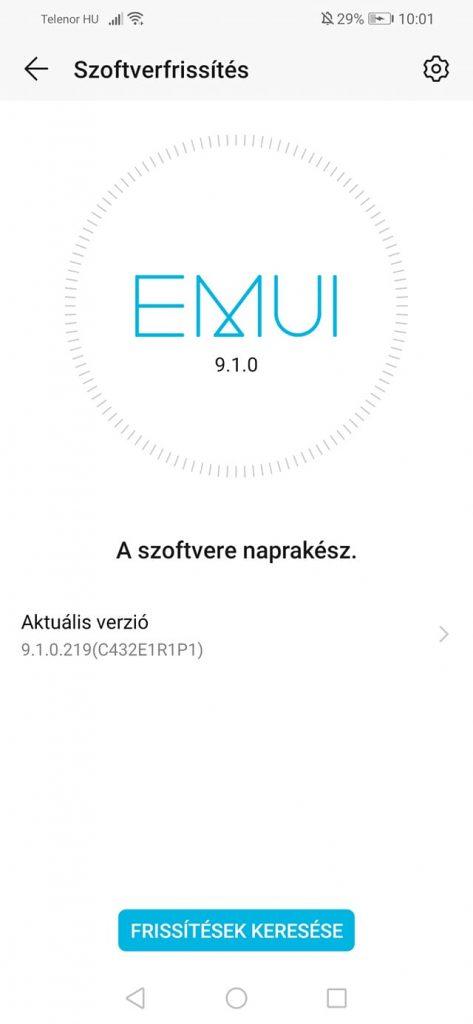 Honor 8X EMUI 9.1 frissítés érkezett