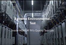 HONOR 9X Quality Test Lab: környezeti elemek tesztje