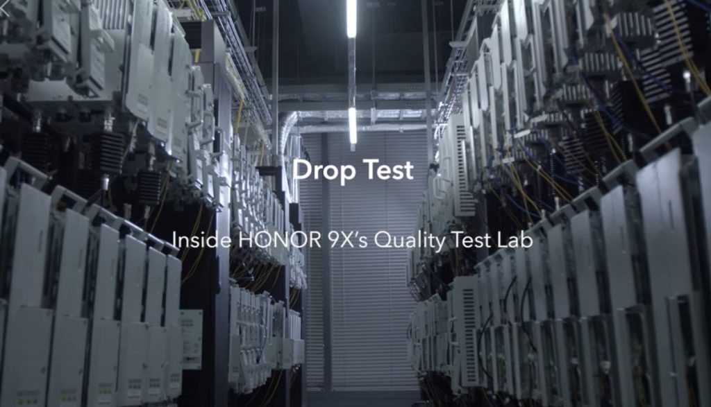 HONOR 9X Quality Test Lab: esés ellen is tesztelik