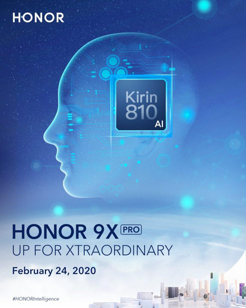 HMS-sel jön a Honor 9X Pro